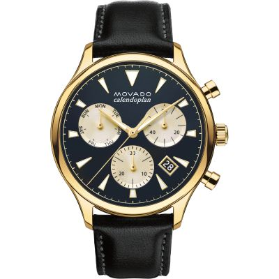 Mens Movado Heritage Series Calendoplan Chronograph Watch 3650006