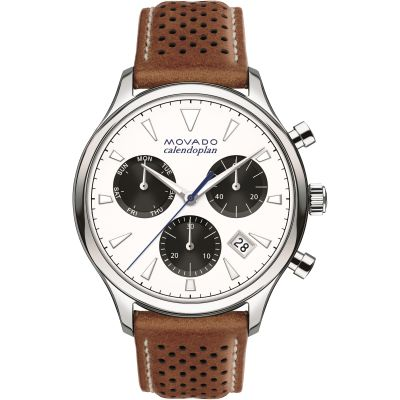 Mens Movado Heritage Series Calendoplan Chronograph Watch 3650008
