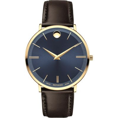 Mens Movado Ultra Slim Watch 0607088