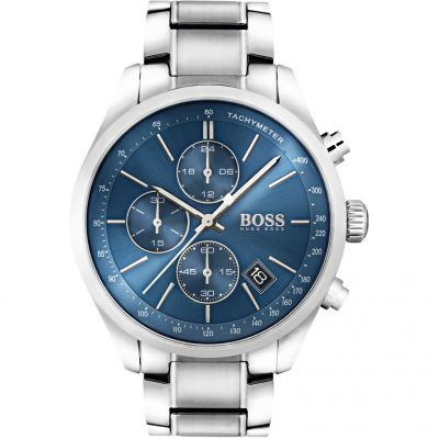Hugo Boss Grand Prix Grand Prix Herrenchronograph in Silber 1513478