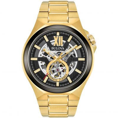 Bulova Automatic Herrenuhr in Gold 98A178