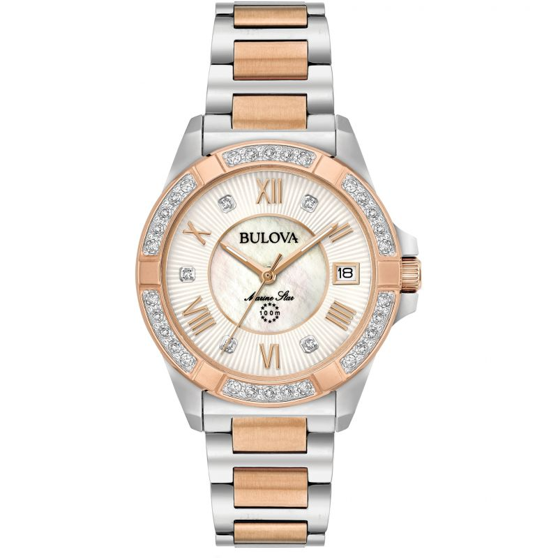Ladies Bulova Marine Star Diamond Watch