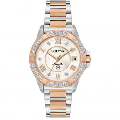 Ladies Bulova Marine Star Diamond Watch 98R234