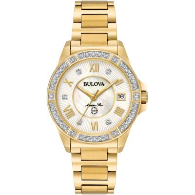 Bulova Marine Star Damenuhr in Gold 98R235