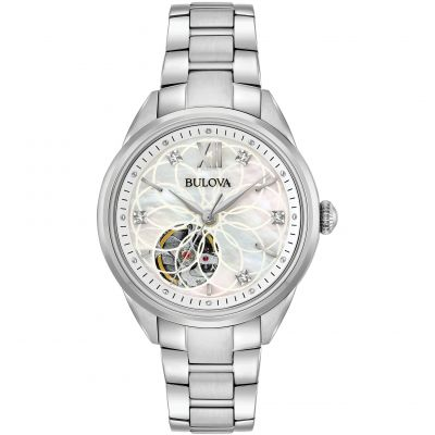 Ladies Bulova Automatic Diamond Watch 96P181