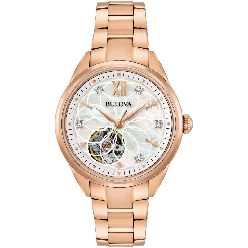 Ladies Bulova Automatic Automatic Diamond Watch