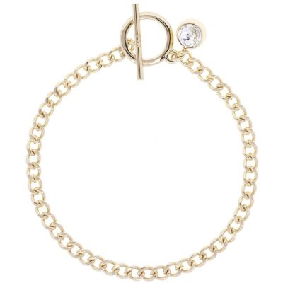 Ladies Karen Millen Gold Plated Quantum Crystal T-Bar Bracelet KMJ1005-30-02