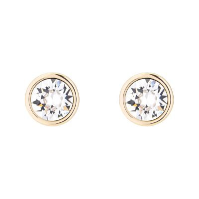 Ladies Karen Millen Gold Plated Logo Stud Earrings KMJ189-30-02