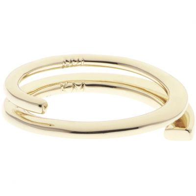 Ladies Karen Millen Gold Plated Axial Sculpture Ring Size ML KMJ970-30-02ML