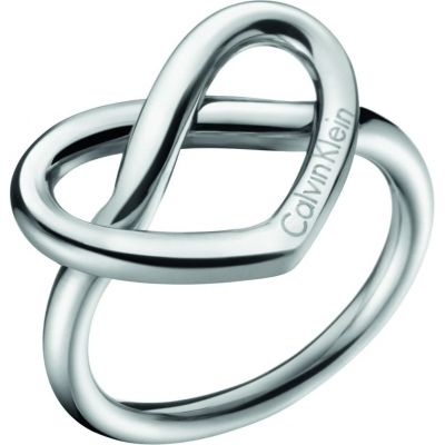 Ladies Calvin Klein Stainless Steel Size L Charming Ring KJ6BMR000106