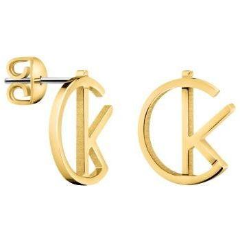 Ladies Calvin Klein Gold Plated League Earrings Kj6 Dje100200 by Calvin Klein Jewellery