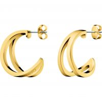 Ladies Calvin Klein Gold Plated Outline Earrings KJ6VJE100100