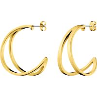 Ladies Calvin Klein Gold Plated Outline Earrings KJ6VJE100200