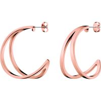 Ladies Calvin Klein Rose Gold Plated Outline Earrings KJ6VPE100200