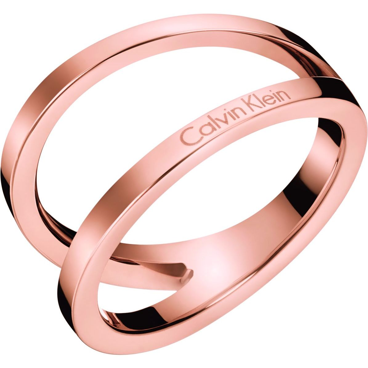 Ladies Calvin Klein Jewellery Rose Gold Plated Outline Ring ...