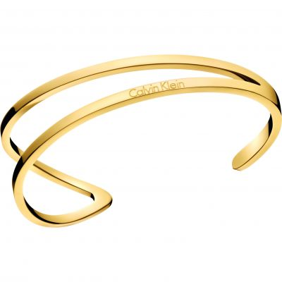 Calvin Klein Dames Outline Bangle Size S Verguld goud KJ6VJF10010S