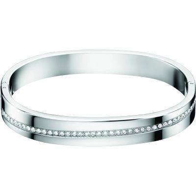 Calvin Klein Dam Hook Crystal Bangle Size S Rostfritt stål KJ06MD04010S