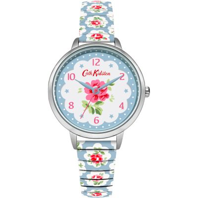 Ladies Cath Kidston Provence Rose Blue Expander Watch CKL030WU
