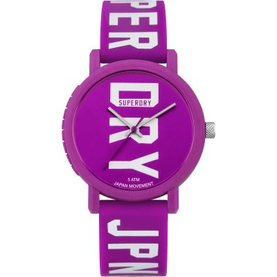 Ladies Superdry Campus Fluro Block Watch SYL196VW