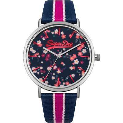 Ladies Superdry Oxford Ditsy Watch SYL183UP
