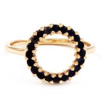 Lola Rose Dam Iolite Mini Circle Ring Sterlingsilver R0048-30800
