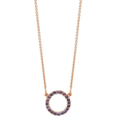 Damen Lola Rose Iolite Mini Circle Charm Halskette Sterling-Silber R0009-30800