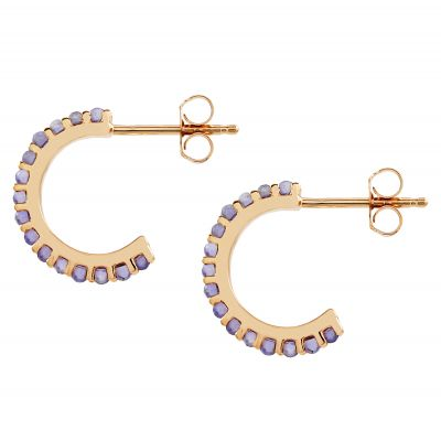 Biżuteria damska Lola Rose Jewellery Iolite Small Hoop Earrings R0001-30800