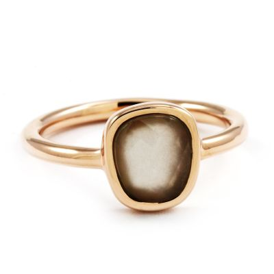 Ladies Lola Rose PVD rose plating Bassa Grey Moonstone Mini Facet Ring 608244