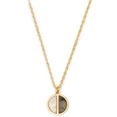 Bijoux Femme Lola Rose Garbo Labradorite Divided Circle Collier 614207