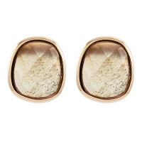 Lola Rose Dam Bassa Grey Moonstone Mini Facet Earrings Roséguldspläterad 606486