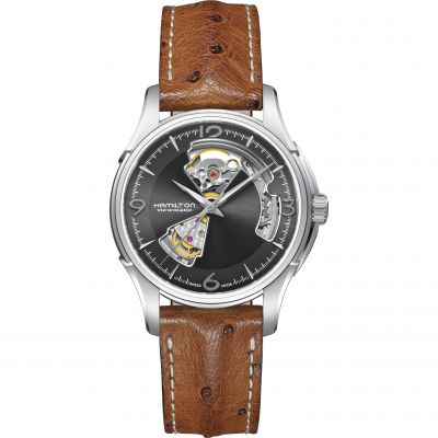 Hamilton Jazzmaster Open Heart Herrenuhr in Braun H32565585
