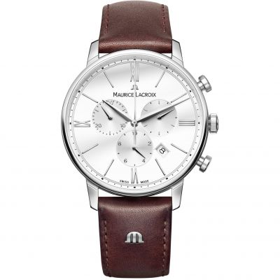 Maurice Lacroix Eliros Herrenchronograph in Braun EL1098-SS001-112-1