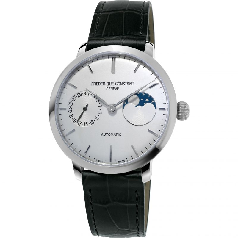 Mens Frederique Constant Slimline Moonphase Manufacture Automatic Watch