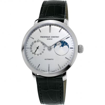 Mens Frederique Constant Slimline Moonphase Manufacture Automatic Watch FC-702S3S6