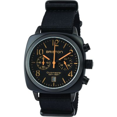 Unisex Briston Clubmaster Classic Acetate Chronograph Watch 13140.PBAM.B.4.NB