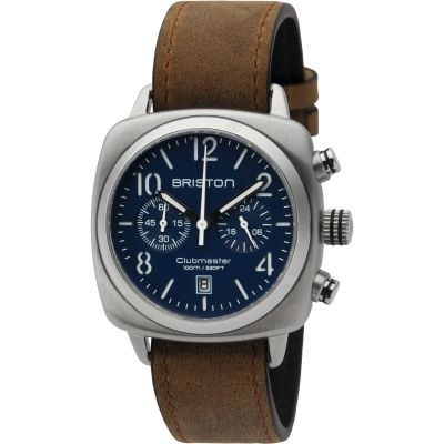 Unisex Briston Clubmaster Classic Steel Chronograph Watch 16140.S.C.15.LVBR