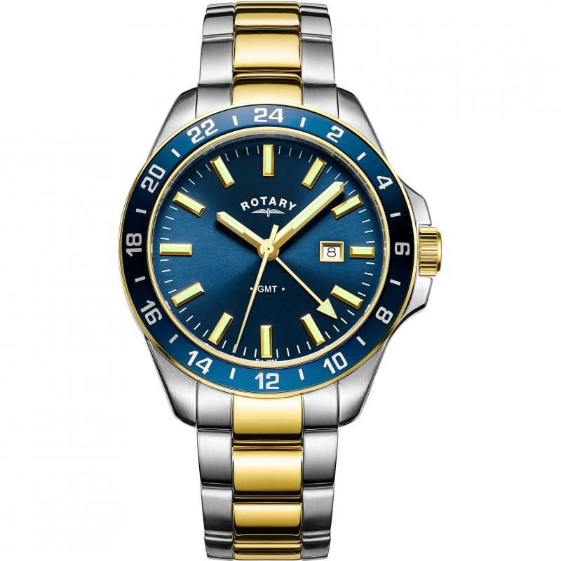 Mens Rotary Havana GMT Quartz Watch