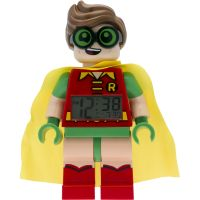 Childrens LEGO Batman Movie Robin minifigure clock Alarm Watch 9009358