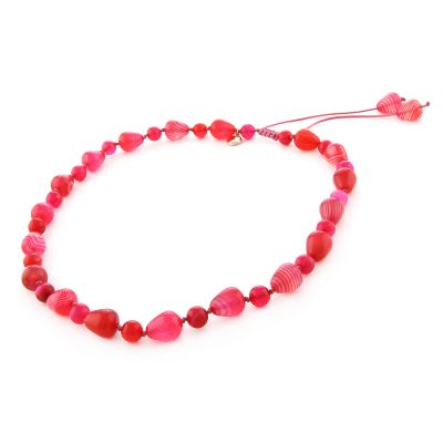 Ladies Lola Rose Gold Plated Nene Scarlet Agate Necklace 643337