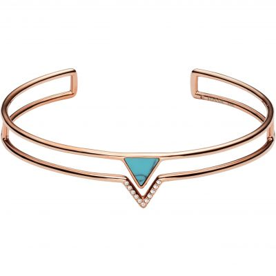 Damen Fossil Triangle Turquoise Fashion Armband Edelstahl JF02643791