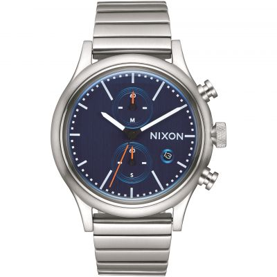 Nixon The Station Chrono Herrkronograf Silver A1162-307
