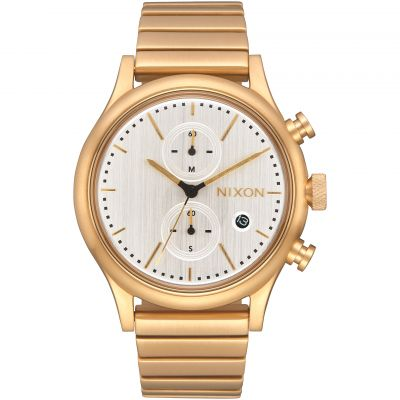 Nixon The Station Chrono Herrkronograf Guld A1162-2612