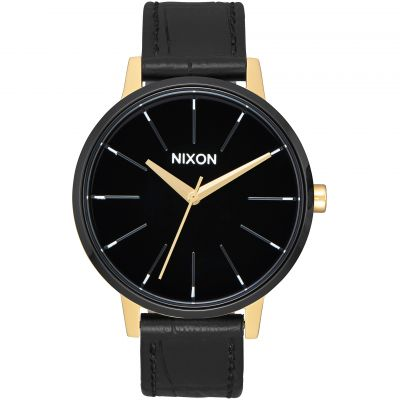 Nixon The Kensington Leather Dameshorloge Zwart A108-2226