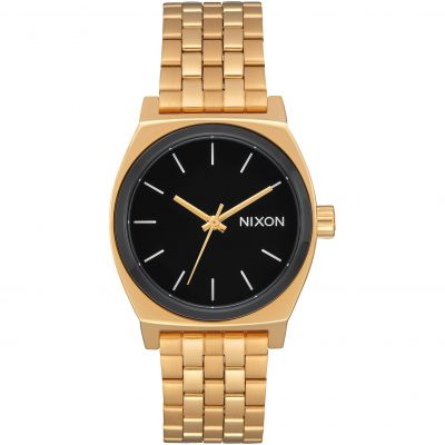Nixon The Medium Time Teller Unisex horloge Goud A1130-2226