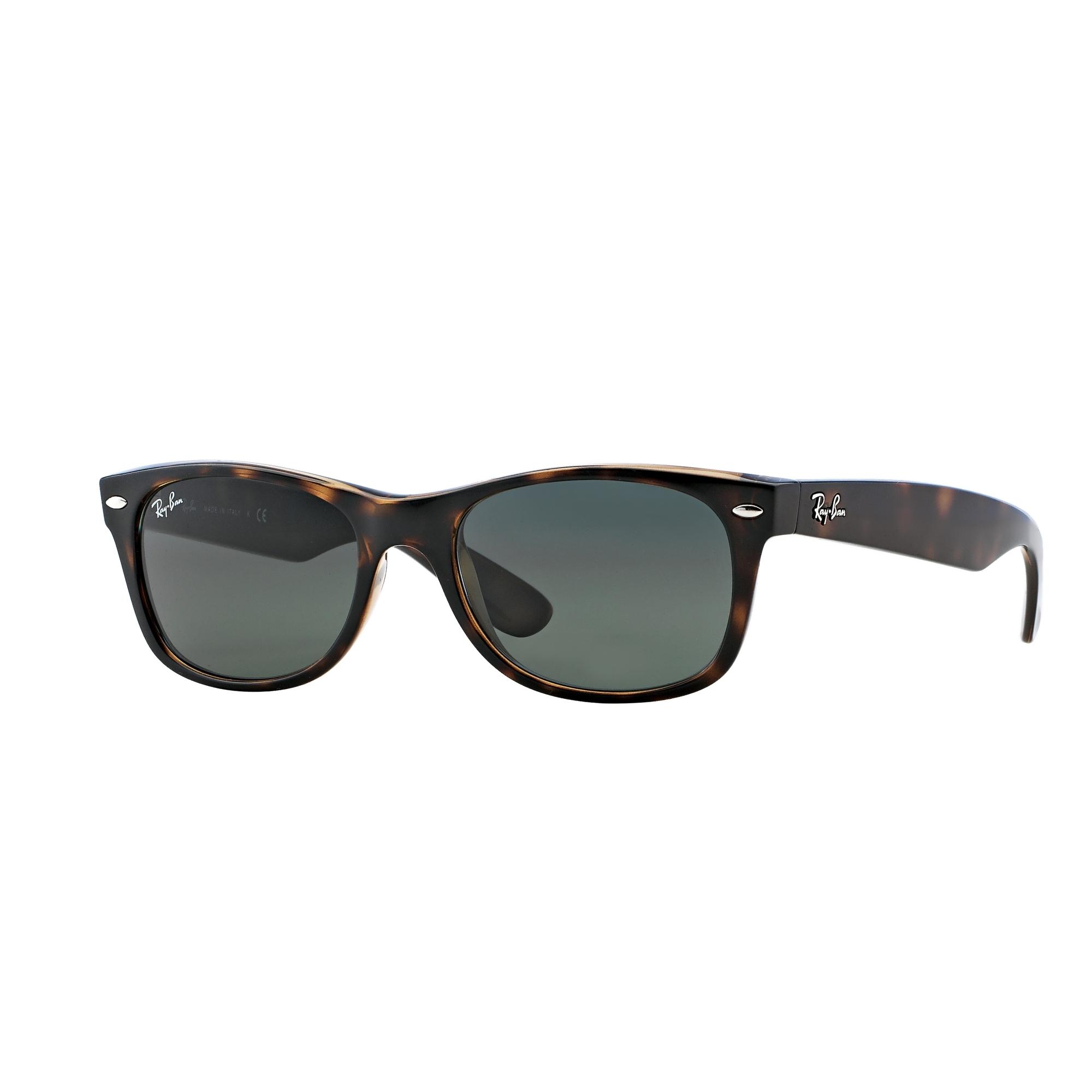 Mens Ray-Ban Tortoise Green Classic G15 New Wayfarer Classic Sunglasses  RB2132-902-52 - WATCH SHOP.™   WatchShop.com™ 6a461660ce71