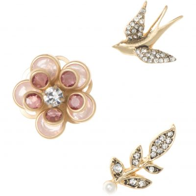 Bijoux Femme Lonna And Lilly Boucles d'oreilles and Brooch Set 60460939-2GR