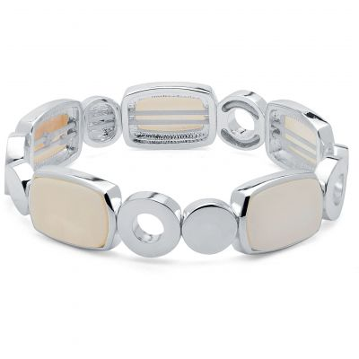 Ladies Nine West Silver Plated Stretch Bracelet 60459716-I15