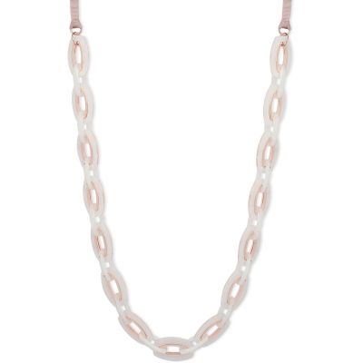 Anne Klein Dames & Pink Resin Necklace Verguld Rose Goud 60457965-9DH