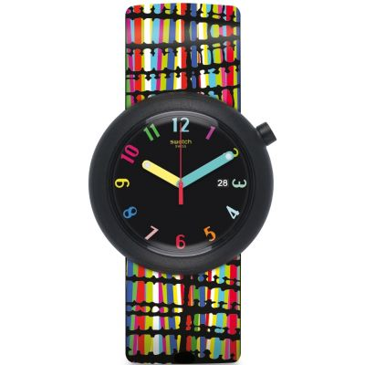 Swatch Originals Pop Crazypop Unisexuhr in Mehrfarbig PNB400