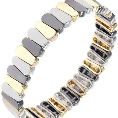 Ladies Nine West Multi colour gold Stretch Bracelet 60391633-Z01